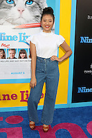 HOLLYWOOD, CA - AUGUST 01: Haley Tju at the film premiere for 'Nine Lives' at the TCL Chinese Theatre on August 1, 2016 in Hollywood, California. Credit: David Edwards/MediaPunch