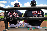 15 March 2009: Washington Nationals' teammates Corey Patterson and Elijah Dukes watch play during a Spring Training game against the Detroit Tigers at Space Coast Stadium in Viera, Florida. The Tigers shut out the Nationals 3-0 in the Grapefruit League matchup. Mandatory Photo Credit: Ed Wolfstein Photo