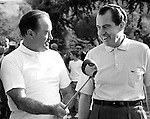 President Richard M. Nixon  and comedian Bob Hope play golf in California, Bob Hope, President Richard Nixon, golf, Fine Art Photography by Ron Bennett, Fine Art, Fine Art photography, Art Photography, Copyright RonBennettPhotography.com ©