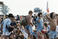Scenes of the audience at the Labor Day Weekend Grateful Dead Concert, Raceway Park, Englishtown NJ, 3 September 1977.