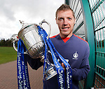 Falkirk's Burton O'Brien with the Homecoming Scottish Cup