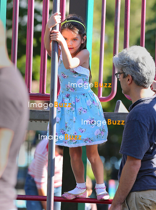 Katie Holmes and Suri Cruise enjoying some quality time at a Playground in Brooklyn. New York City, September 23, 2012..
