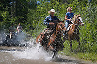 Mountain View, Alberta, Canada, July 2008. Rancher Dan Nelson takes us on a horse back trail ride in the hills connecting the Albertan prairie with the mountains of Waterton National Park. Photo by Frits Meyst/Adventure4ever.com