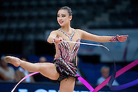 September 10, 2015 - Stuttgart, Germany - SON YEON-Jae of South Korea performs during AA qualifications at 2015 World Championships.
