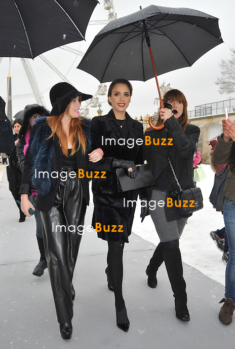 Jessica Alba attends the Dior fashion show during the 2013 Fashion Week in Paris, France, on January 21 2013......