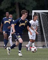 Quinnipiac University midfielder Tim Quigley (13) at midfield. Boston College defeated Quinnipiac, 5-0, at Newton Soccer Field, September 1, 2011.