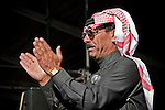 Omar Souleyman at Fun Fun Fun Fest at Auditorium Shores, Austin Texas, November 4, 2011.  Omar Souleyman is from the  Ras Al Ain, Syria.