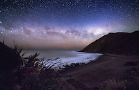 I headed out to the Wellington South Coast in New Zealand late last week hoping to capture probably my last image of the galactic centre of the Milky Way for this year. After this week the moon will begin to get brighter and the galactic centre will disappear below the horizon until February 2016. It's quite an amazing sight to see this time of year as about an hour after sunset, you can see the Milky Way sitting parallel to the horizon. It's position does vary quite a lot depending on where you are in the world, but in New Zealand at the moment, we have front row seats to one of the best shows in the universe.