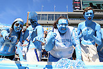 07 September 2013: UNC fans. The University of North Carolina Tar Heels played the Middle Tennesse State University Blue Raiders at Keenan Stadium in Chapel Hill, NC in a 2013 NCAA Division I Football game.