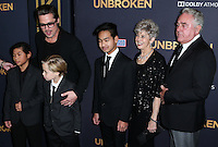 HOLLYWOOD, LOS ANGELES, CA, USA - DECEMBER 15: Brad Pitt, Brad Pitt, Maddox Chivan Jolie-Pitt, Pax Thien Jolie-Pitt, Shiloh Nouvel Jolie-Pitt, Jane Etta Pitt, William Alvin Pitt arrive at the Los Angeles Premiere Of Universal Pictures' 'Unbroken' held at the Dolby Theatre on December 15, 2014 in Hollywood, Los Angeles, California, United States. (Photo by Xavier Collin/Celebrity Monitor)