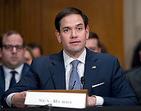 United States Senator Marco Rubio (Republican of Florida) makes a statement introducing R. Alexander Acosta, Dean of Florida International University College of Law and US President Donald J. Trump's nominee for US Secretary of Labor, testifies during his confirmation hearing before the US Senate Committee on Health, Education, Labor &amp; Pensions on Capitol Hill in Washington, DC on Wednesday, March 22, 2017.<br /> Credit: Ron Sachs / CNP /MediaPunch