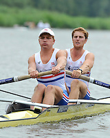 Amsterdam, NETHERLAND, GBR BM2-. Bow. George NASH and Constantine LOULOUDIS.  2011 FISA U23 World Rowing Championships, {dow], {date} [Mandatory credit:  Intersport Images].