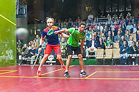 Ramy Ashour (EGY) vs. James Willstrop (ENG) in the quarterfinals of the 2014 METROsquash Windy City Open held at the University Club of Chicago in Chicago, IL on March 1, 2014