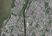 aerial photo map Manhattan and Bronx, New York City