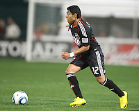 Cristian Castillo #12 of D.C. United during an MLS match against the New England Revolution on April 3 2010, at RFK Stadium in Washington D.C.
