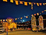 Evening at the August ArtsWells Festival in Wells, B.C.