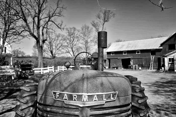 An Antique Farmall Tractor