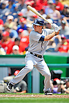 29 May 2011: San Diego Padres outfielder Blake Tekotte in action against the Washington Nationals at Nationals Park in Washington, District of Columbia. The Padres defeated the Nationals 5-4 to take the rubber match of their 3-game series. Mandatory Credit: Ed Wolfstein Photo