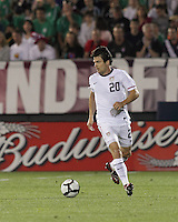 USA defender Heath Pearce (20). In the Send Off Series, the Czech Republic defeated the US men's national team, 4-2, at Rentschler Field in East Hartford, Connecticut, on May 25, 2010.
