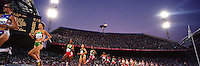 A panoramic view of the Women's 5000m Race at the Sydney Olympic Games.