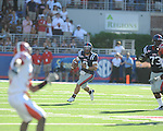 Ole Miss quarterback Jeremiah Masoli (8) looks to throw at Vaught-Hemingway Stadium in Oxford, Miss. on Saturday, September 4, 2010. Jacksonville State won 49-48 in double overtime.