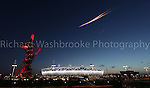 Paralympics London 2012 - ParalympicsGB - Opening Ceremony held at the Stadium 29th August 2012. A plane flys past overhead with fireworks coming out of the back..Photo: Richard Washbrooke/ParalympicsGB