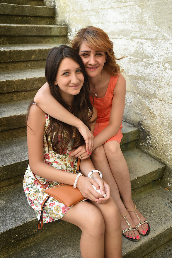 REFUGEE CRISIS IN AUSTRIA. THE SYRIAN ORTHODOX CHURCH OF VIENNA WHICH IS HELPING REFUGEES. RUBA BOULES WITH HER DAUGHTER SILVY KOSHIAN CASE STUDY. HEDI CASE STUDY. PHOTO BY CLARE KENDALL. 12/08/15.