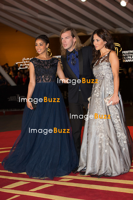 Aurelie Konate, Christophe Guillarmé and Guiand Fabienne Carat attend the 'Cinecoles Jury members' award ceremony as part as 14th Marrakech International Film Festival on December 12, 2014 in Marrakech, Morocco.