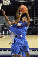 PF Kevin Jones (Mount Vernon, NY / Mount Vernon) shoots the ball during the NBA Top 100 Camp held Saturday June 23, 2007 at the John Paul Jones arena in Charlottesville, Va. (Photo/Andrew Shurtleff)