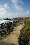 CA: Pigeon Point, California, lighthouse 2005 .Image: capigeon107.Photo Copyright: Lee Foster, lee@fostertravel.com, www.fostertravel.com, (510) 549-2202..