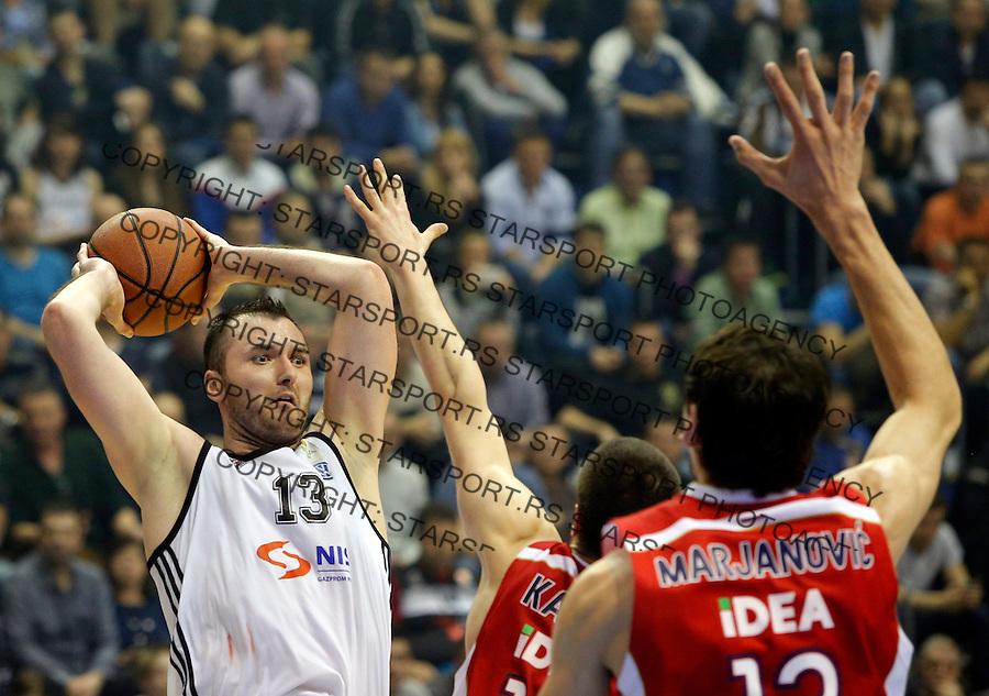 Milan Macvan Aba Jadranska Regionalna liga, derbi, Partizan - Crvena Zvezda, 23. kolo Beograd, Srbija, 1.3.2015.  (credit image & photo: Pedja Milosavljevic / STARSPORT).