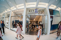 The Kit and Ace store in the World Trade Center Transportation Hub, known as the Oculus, on Tuesday, August 16, 2016 during the grand opening of the retail spaces. The 350,000 square foot retail space will feature over 100 stores when they all open, including a now opened Apple Store. The mall opens almost 15 years after the World Trade Center terrorist attack.  (© Richard B. Levine)