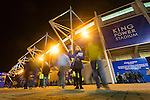 Leicester City 0 Manchester City 0, 29/12/2015. King Power Stadium, Premier League. Programme seller at The King Power Stadium Leicester, before the goalless draw between Leicester City and Manchester City. Photo by Paul Thompson.