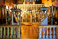 Interior of the Theotokos, Monastery, Paleokastitsa, 18th century Greek Orthodox. Corfu Ionian Island, Greece