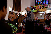 Detroit, Michigan<br /> USA<br /> January 17, 2010<br /> <br /> Sunday service at the Greater Christ Baptist Church held by Reverend James C. Perkins.
