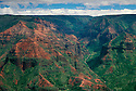 Waimea Canyon, sometimes called &quot;the Grand Canyon of the Pacific&quot;; Waimea Canyon State Park, Kauai, Hawaii.  .#1204-3759