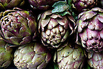Closeup of artichokes