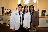 White Coat Ceremony, class of 2015. Michael Ma, Jessica Louie.
