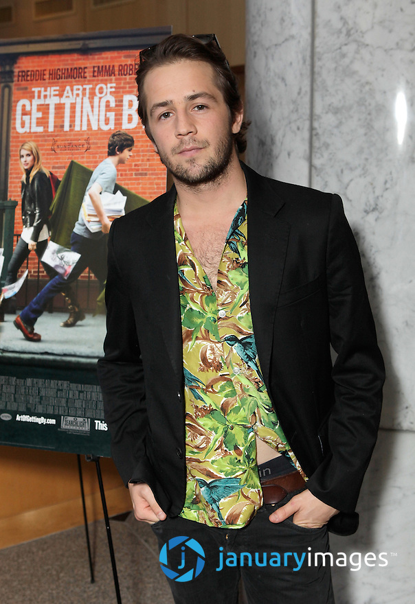 "BEVERLY HILLS, CA - JUNE 06:  Michael Angarano attends a Fox Searchlight screening Of ""The Art Of Getting By"" at Clarity Theater on June 6, 2011 in Beverly Hills, California.  (Photo by Todd Williamson/WireImage)"