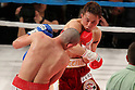 (L to R) Humberto Gutierrez (Mex), Takahiro Aoh (JPN), April 8, 2011 - Boxing : WBC super feather weight title bout at Kobe World hall, Hyogo, Japan. Takahiro Aoh won by KO after the fight was stopped in the forth round. (Photo by Yusuke Nakanishi/AFLO) [1090]