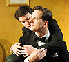 The Art of Concealment <br /> The Life of Terence Rattigan<br /> a new play by Giles Cole<br /> directed by Knight Mantell<br /> designed by Meg Witts<br /> at the Jermyn Street Theatre, London, Great Britain <br /> press photocall<br /> 10th January 2011 <br /> <br /> Dominic Tighe (Younger Rattigan)<br /> Daniel Bayle (as Kenneth Morgan)<br /> <br /> Photograph by Elliott Franks
