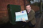 Local MP Alun Cairns at the switch on of BT Fibre Broadband in Dinas Powys.<br /> 19.02.14<br /> <br /> &copy;Steve Pope-FOTOWALES