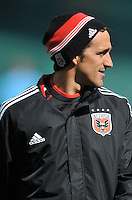 D.C. United assistant coach Josh Wolff during pre-game warmups. The Columbus Crew defeated D.C. United 2-1 ,at RFK Stadium, Saturday March 23,2013.