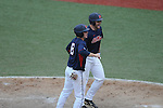 Ole Miss' Sikes Orvis hits a game tying two run home run in the 9th inning vs. Tennessee at Oxford-University Stadium in Oxford, Miss. on Saturday, May 12, 2012.