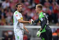Fussball  1. Bundesliga  Saison 2013/2014   1. SPIELTAG FC Bayern Muenchen - Borussia Moenchengladbach       09.08.2013 Martin Stranzl  (li) und Torwart Marc Andre ter Stegen (re, beide Borussia Moenchengladbach)