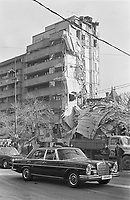 ROMANIA, Magheru Bd., Bucharest, 5.03.1977.Elena Ceausescu, the illiterate scientist, passes by in a Mercedes after the earthquake..© Andrei Pandele / EST&OST