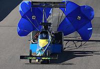 Feb. 23, 2013; Chandler, AZ, USA; NHRA top fuel dragster driver Sidnei Frigo during qualifying for the Arizona Nationals at Firebird International Raceway. Mandatory Credit: Mark J. Rebilas-
