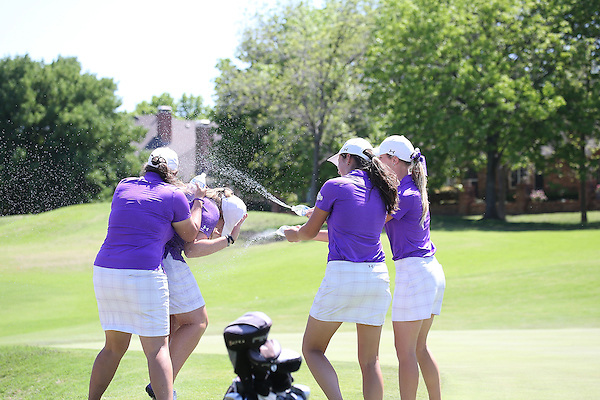 McKinney, TX - APRIL 15: Southland Conference Women's Golf Championship at Stonebridge Ranch Hills Course in Mckinney on April 15, 2015 in McKinney, Texas.  (Photo by Rick Yeatts)