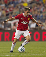 Manchester United FC forward Michael Owen (7) at midfield. In a Herbalife World Football Challenge 2011 friendly match, Manchester United FC defeated the New England Revolution, 4-1, at Gillette Stadium on July 13, 2011.