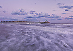 The Folly Beach Pier, at sunset